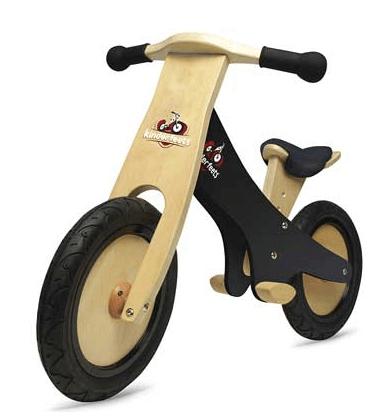 Bicicleta de equilibrio de madera de pizarra Kinderfeets