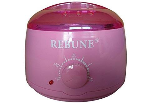 ¿REBUNE? 110 V Calentador de cera 110 V 500 ml Pro Máquina removedor de cabello Parafina SPA Belleza Calentador de cera olla Mini herramienta de cuidado de eliminación de pelo