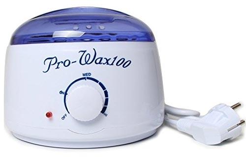 Calentador de cera eléctrico del kit de depilación Bluezoo con frijoles de cera dura y palitos aplicadores de cera