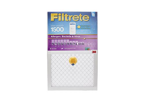Filtrete Smart Filter MPR 1500 16 x 20 x 1 Allergen, Bacteria & Virus AC Filtro de aire del horno, paquete de 2