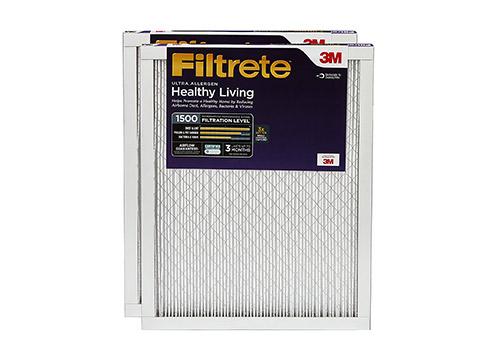 Filtrete MPR 1500 20 x 25 x 1 El filtro de aire HVAC con reducción de alérgenos ultra saludable de Living Living, atrae partículas finas inhalables, paquete de 2