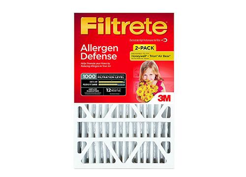 Filtrete Micro Allergen Defense Deep Pleat HVAC filtro de aire, MPR 1000, 16 x 25 x 4 (4-3 / 8 de profundidad real), paquete de 2