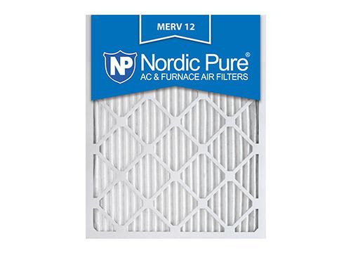 Nordic Pure 16x25x1 MERV 12 Filtro de aire de horno de CA plisado, caja de 6