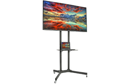 VIVO Black TV Cart para LCD LED Plasma Flat Panel Stand