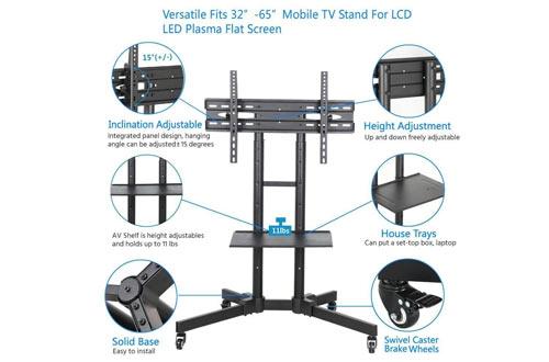 Yaheetech 32 a 65 pulgadas carros de TV de pantalla plana Universal