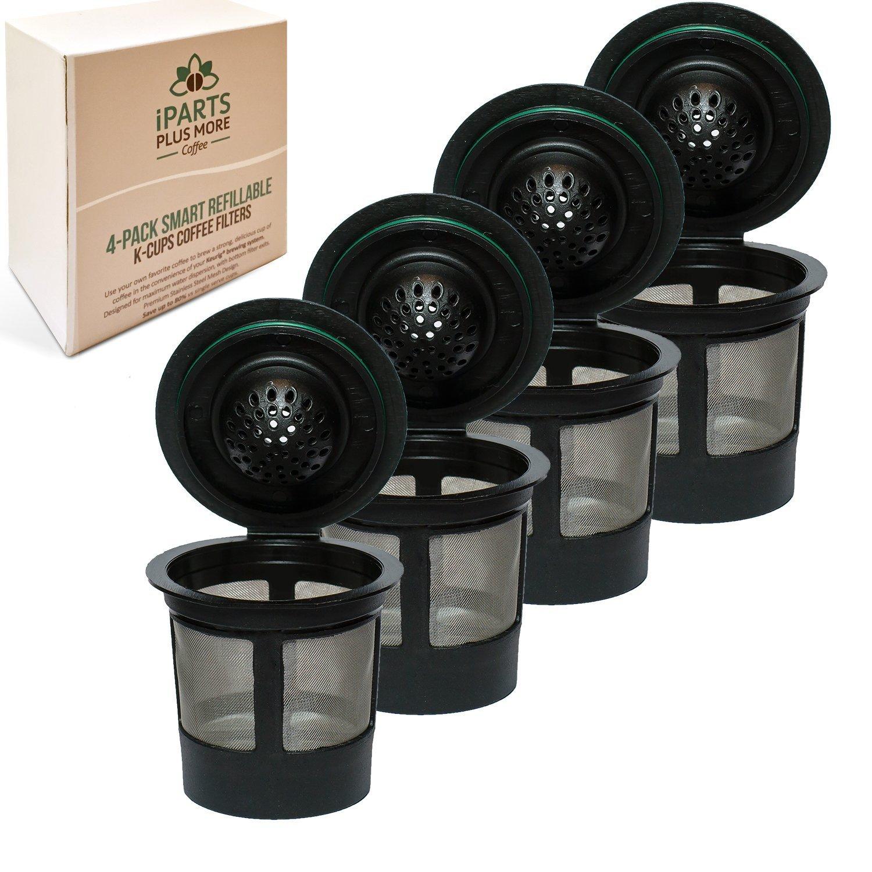 Filtros reutilizables de malla inoxidable para café solo de una taza, paquete de 4