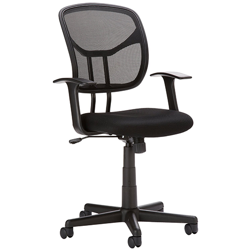 """AmazonBasics-Mid-Back-Mesh-Office-Chair-"