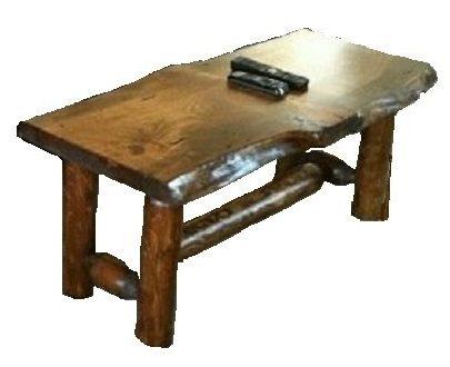 Mesa de centro rústica de pino y cedro