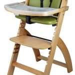 Abiie Beyond Wooden High Chair With Tray-Wooden High Chair