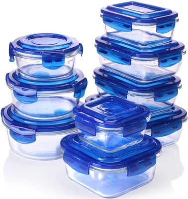 8. Utensilios de cocina de vidrio de cocina utópica
