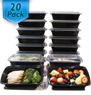 """Los mejores conjuntos de recipientes de almacenamiento de alimentos - Varios Contenedores para la preparación de comidas en el hogar """"width ="""" 381 """"height ="""" 400"""