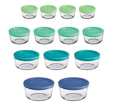 5. Contenedores de almacenamiento de alimentos de vidrio clásico de Hocking de ancla