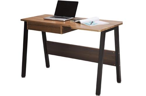 TOPSKY Escritorio de oficina en casa Diseño elegante Estudio de madera Escritorio Tocador con cajón (OAK Brown)