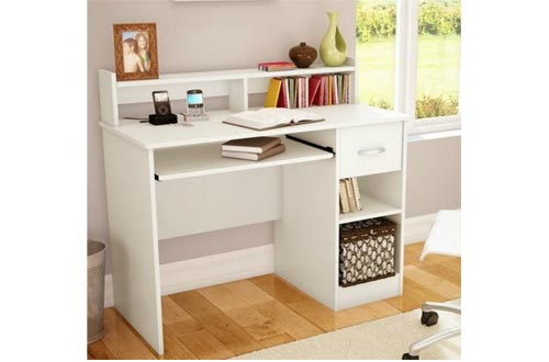 Mesa de estudio South Shore, muebles de escritorio, blanco