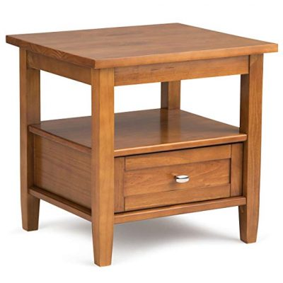 8. Simpli Home Warm Shaker Honey Brown End Table