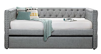 Dayelegance Adalie Tuxedo Twin Size Fabric Trundle Daybed