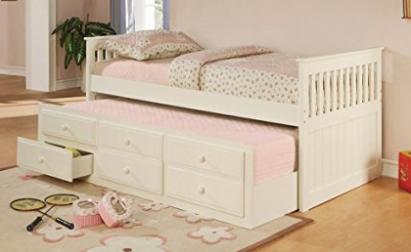 Coaster Fine Furniture 300107 Cama de día estilo misión con nido
