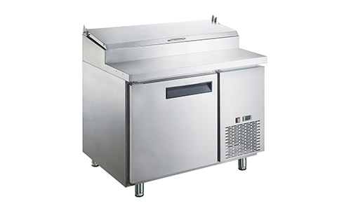 9. Dukers Appliance USA DUK600162378056 Sandwich Pizza Prep Table Refrigerator