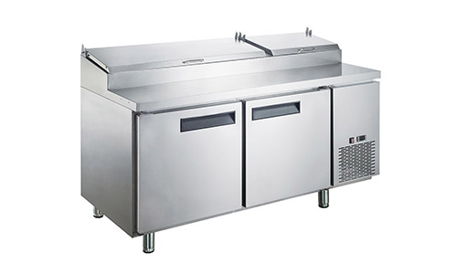 5. Dukers Appliance USA DUK600162378063 Sandwich Pizza Prep Table Refrigerator