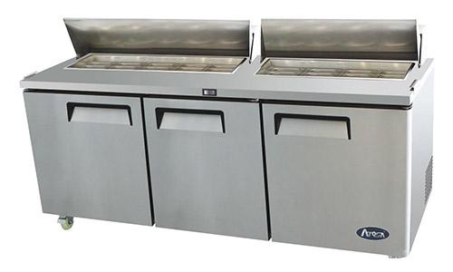2. Mesa de preparación de sándwich / ensalada de acero inoxidable Atosa USA MSF8304