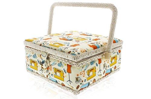 Kit de costura cesta - Organizador de suministros de costura