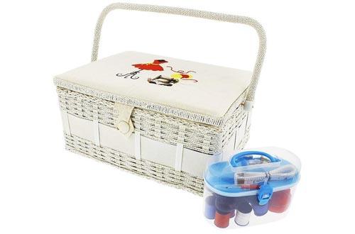 Organizador de la cesta de costura de la vendimia