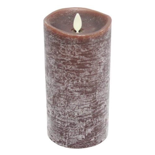 Luminara Rustic Brown Flameless Pillar Vela parpadeante