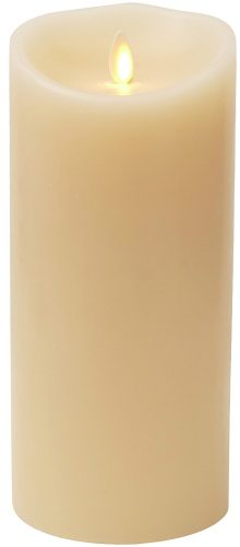 Luminara Flameless Vanilla Scented Moving Flame Candle