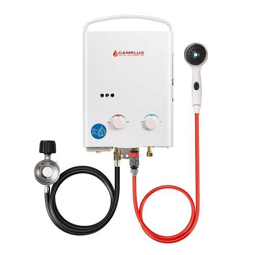 Calentador de agua sin tanque de propano portátil al aire libre Camplux de 5L a 1.32 GPM