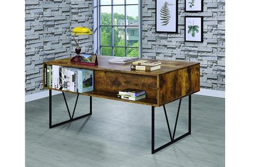 Coaster Muebles para el hogar Analiese Rústico Industrial Escritorio con cuatro cajones - Antique Nutmeg