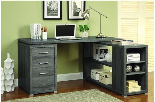 Coaster 800518 Muebles para el hogar Escritorio de oficina, gris degradado