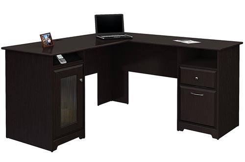Cabot L en forma de escritorio en roble espresso
