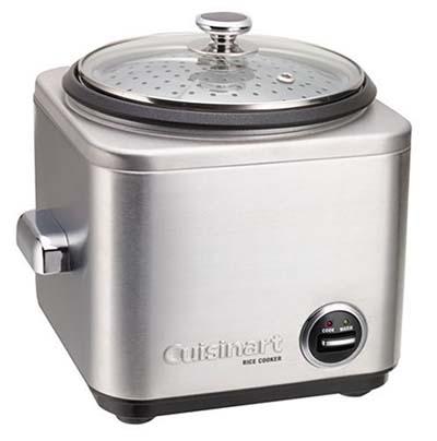8. Cuisinart CRC-400 cocina de arroz de acero inoxidable