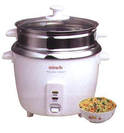 1. Miracle Modelo ME81Stainless Steel Rice Riceer - Acero inoxidable Rice Cooker
