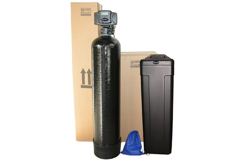 ABCwaters Built Fleck 5600sxt 48,000 Black SPACE SAVER Water Softener
