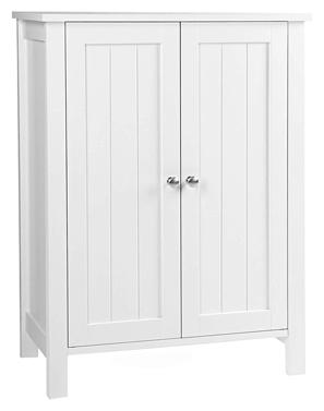Vasagle UBCB60W Mueble de baño con puerta doble, blanco