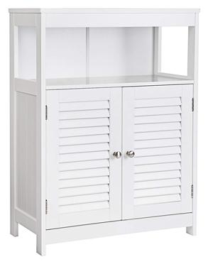 Vasagle baño piso gabinete de almacenamiento puertas dobles